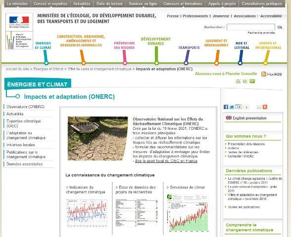 Site Changements climatiques France