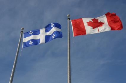 Drapeaux Québec et Cananda